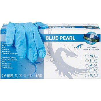 Blue Pearl Nitrilhandschuhe L (8-9)